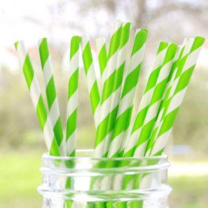 papieren-rietjes-streep-groen
