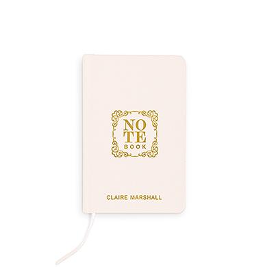 Boekje geloften 'Notebook' ivoor gepersonaliseerd