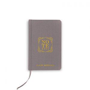 Boekje geloften 'Notebook' grijs gepersonaliseerd