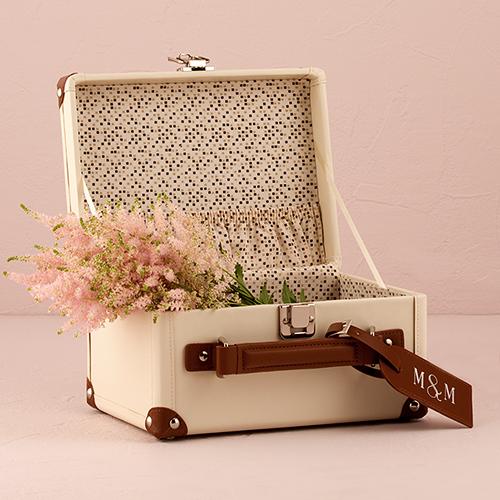 Kleine vintage koffer gepersonaliseerd