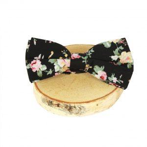 bow-tie-zwart-bloemen