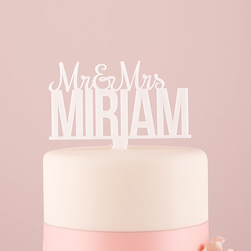 cake-topper-mr-mrs-gepersonaliseerd-wit