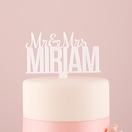 cake-topper-mr-mrs-gepersonaliseerd-wit