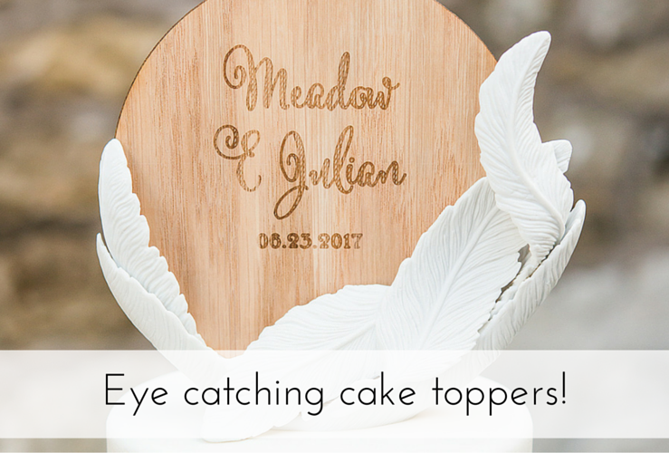 Eye catching cake toppers!