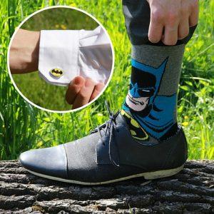 batman-sokken-manchetknopen