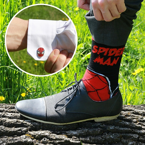 spider-man-sokken-manchetknopen