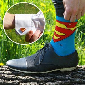 superman-sokken-manchetknopen