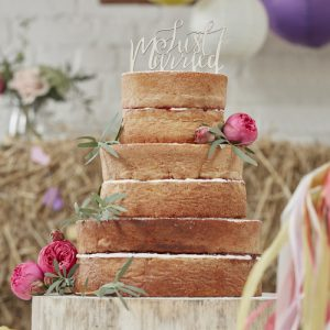 cake-topper-just-married-boho