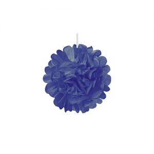 pompom-kobaltblauw-mini