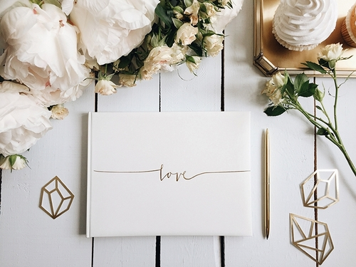 White & Gold wedding