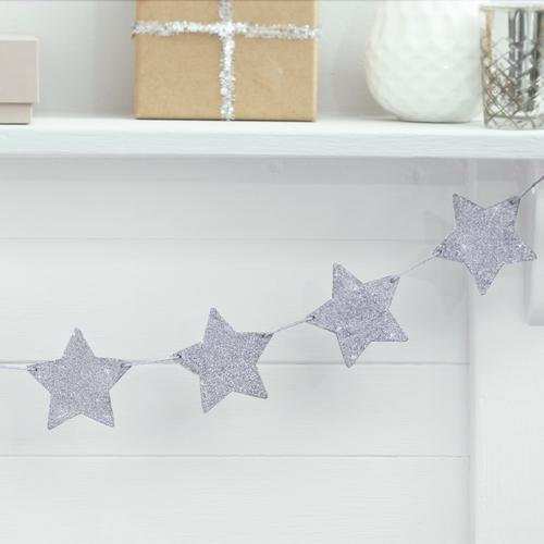 slinger-houten-glitter-sterren-zilver