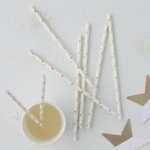 witte-rietjes-met-gouden-sterretjes