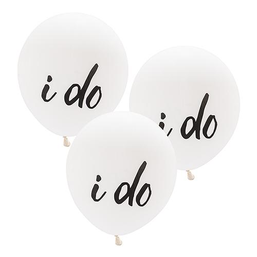 Ballon 'I do' wit large