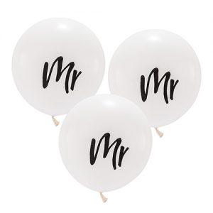 Ballon 'Mr' wit large