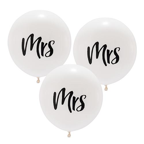 Ballon 'Mrs' wit large