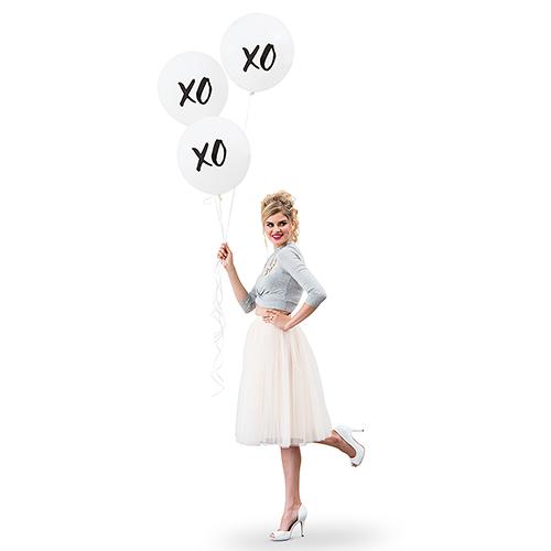 Ballon 'XOXO' wit large