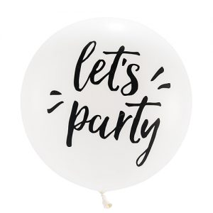 Mega ballon 'Let's Party' wit