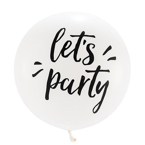 Mega ballon 'Let's Party' wit