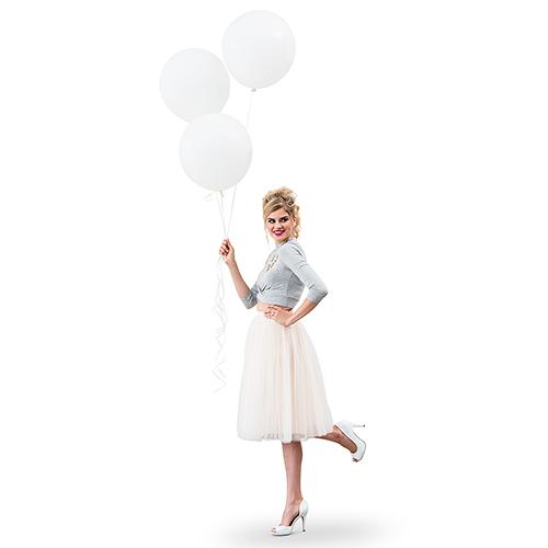 Ballonnen wit large (3ST)