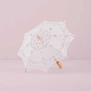 Parasol wit kant small