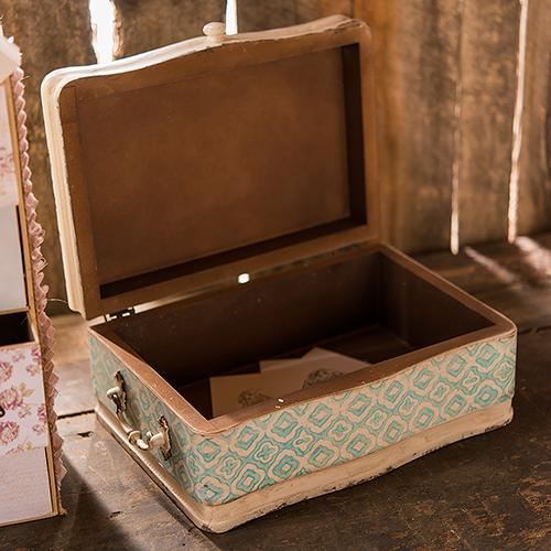 houten vintage koffer blauw. Black Bedroom Furniture Sets. Home Design Ideas
