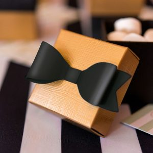 Mini bow ties DIY zwart (12ST)