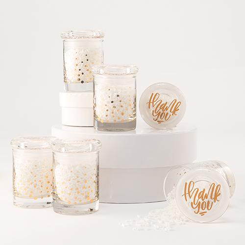 Mason Jar gold confetti
