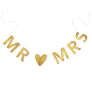 Mr & Mrs slinger Gold & Glitter