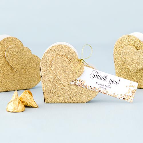 Bedankdoosje 'Gold Glitter' (10ST)