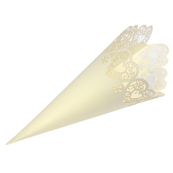 Confetti cones ivoor (10ST)