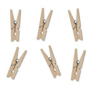 Houten knijpers natural (20ST)