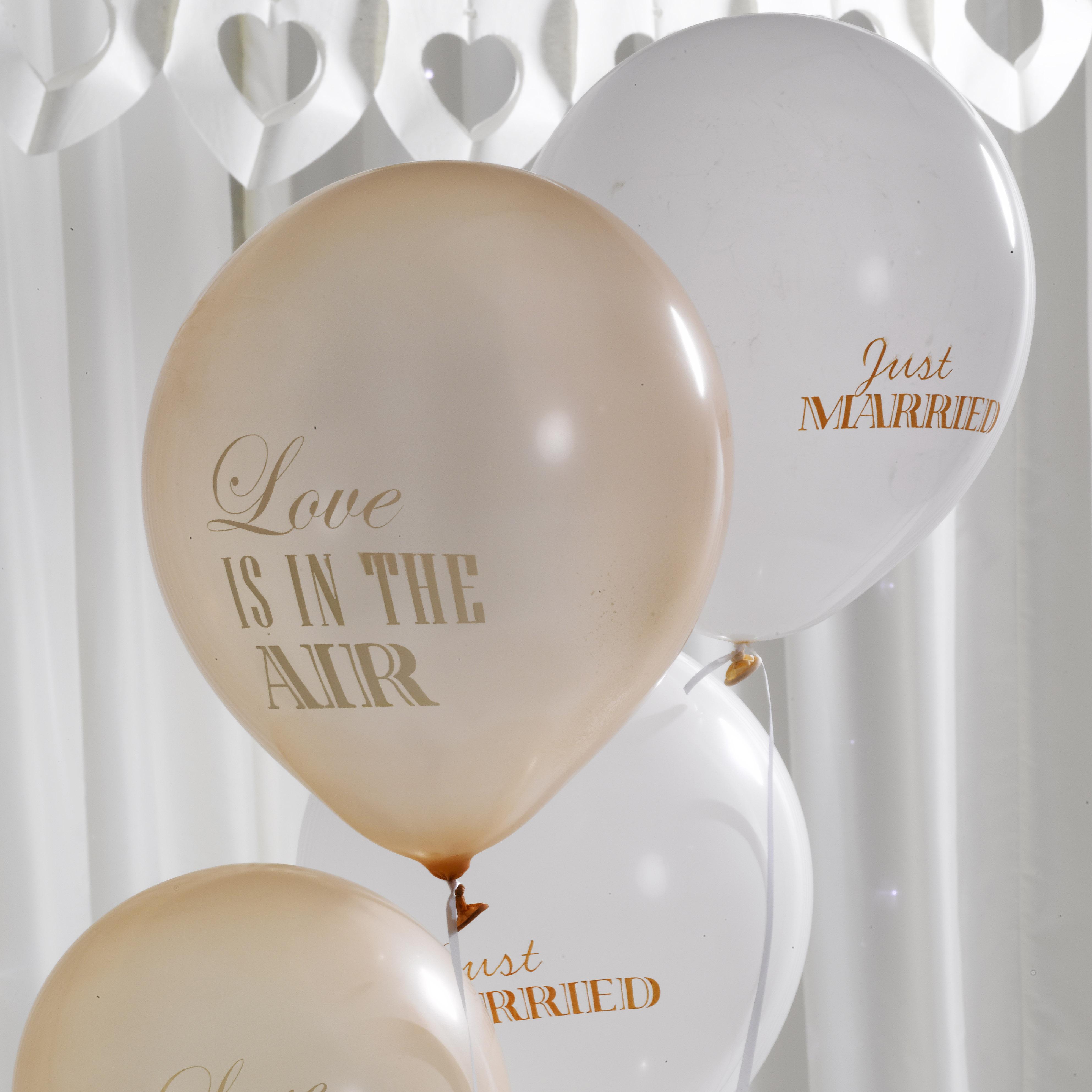 Chique ballonnen 'Champagne / Gold' (8ST)
