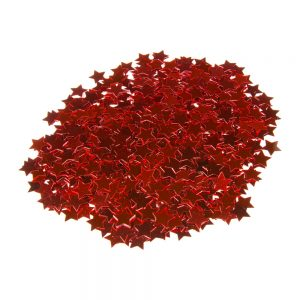 Sterretjes confetti rood