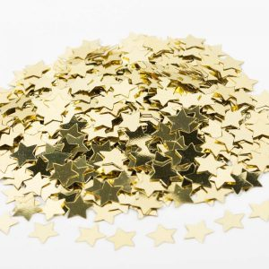 bruiloft-decoratie-sterretjes-confetti-goud