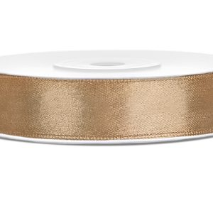 Satijnlint 12mm goud