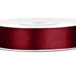 Satijnlint 12mm donker rood