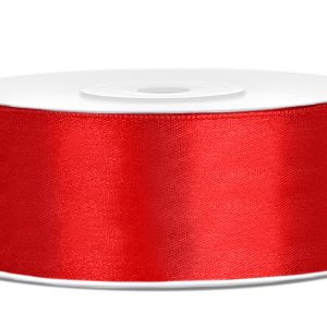 Satijnlint 25mm rood