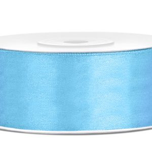 Satijnlint 25mm licht blauw