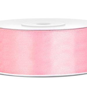 Satijnlint 25mm licht roze