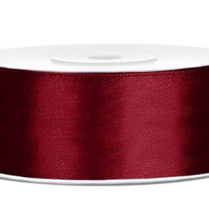 Satijnlint 25mm donker rood