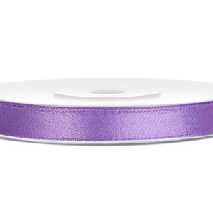 Satijnlint 6mm paars