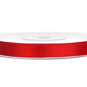 Satijnlint 6mm rood
