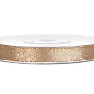 Satijnlint 6mm goud