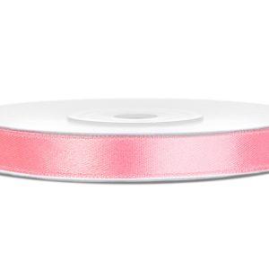 Satijnlint 6mm licht roze