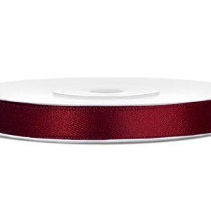 Satijnlint 6mm donker rood