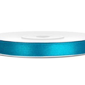 Satijn lint 6mm turquoise (25 m)