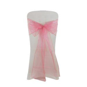 Organza stoellint roze