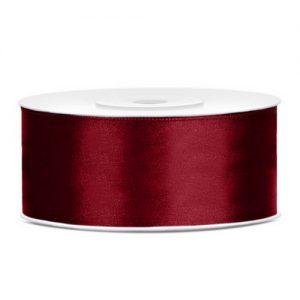 bruiloft-decoratie-satijnlint-25mm-donker-rood