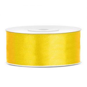 bruiloft-decoratie-satijnlint-25mm-geel