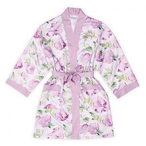 Kimono watercolor floral lavendel gepersonaliseerd